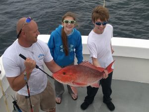 family snapper fishing orange beach